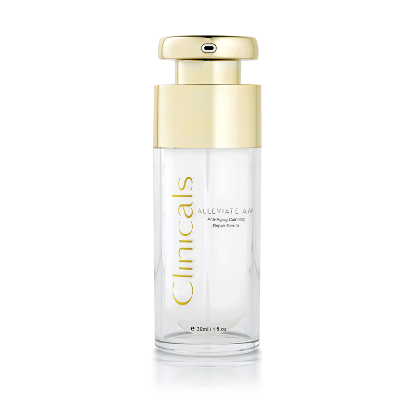 Clinicals Alleviate AM Anti-Ageing Calming Day Repair Serum Front