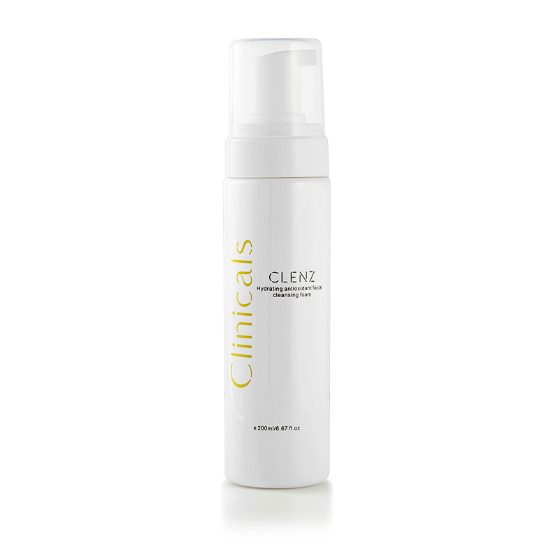 Clinicals Clenz Hydrating Antioxidant Facial Cleansing Foam with Lid