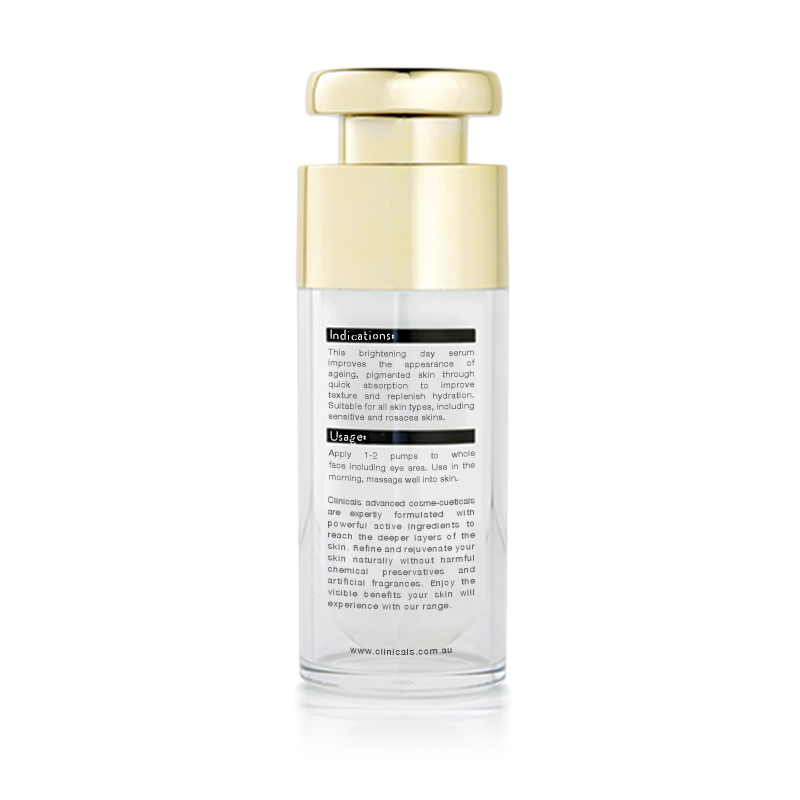 Clinicals Shift AM Anti-Ageing Pigmentation Day Serum Back