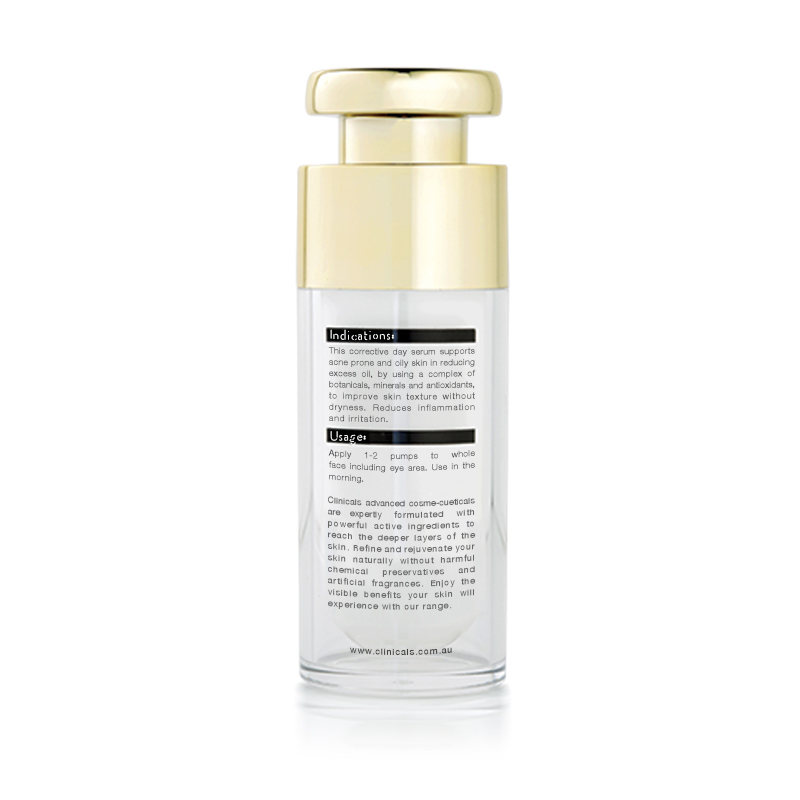 Clinicals Vanish AM Complete Day Corrective Serum Back